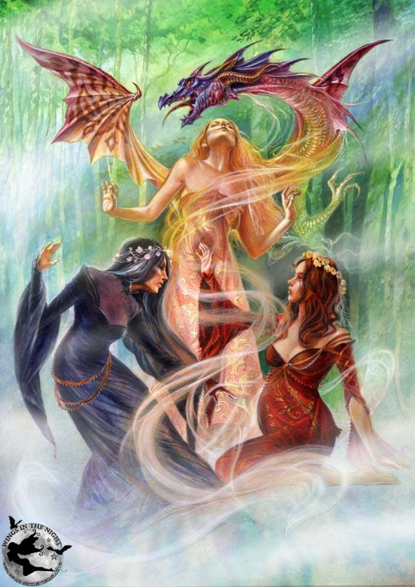 BRIAR Triple Goddess Pagan Greeting Card